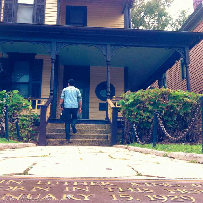 The childhood home of Martin Luther King, Jr.
