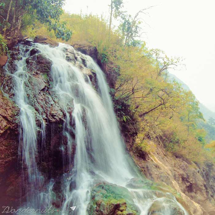 A waterfall in Sapa