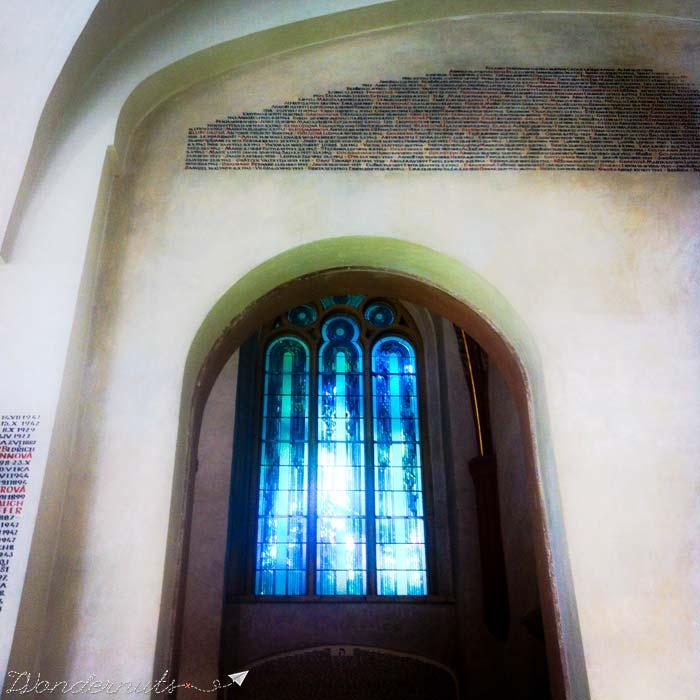 Names on the walls of Pinkas Synagogue